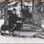 1980s Police Snowmobile