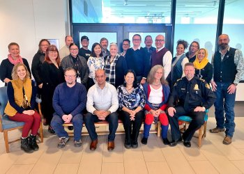 Saskatoon Police Service - Advisory Committee on Diversity - Group inside of SPS Headquarters